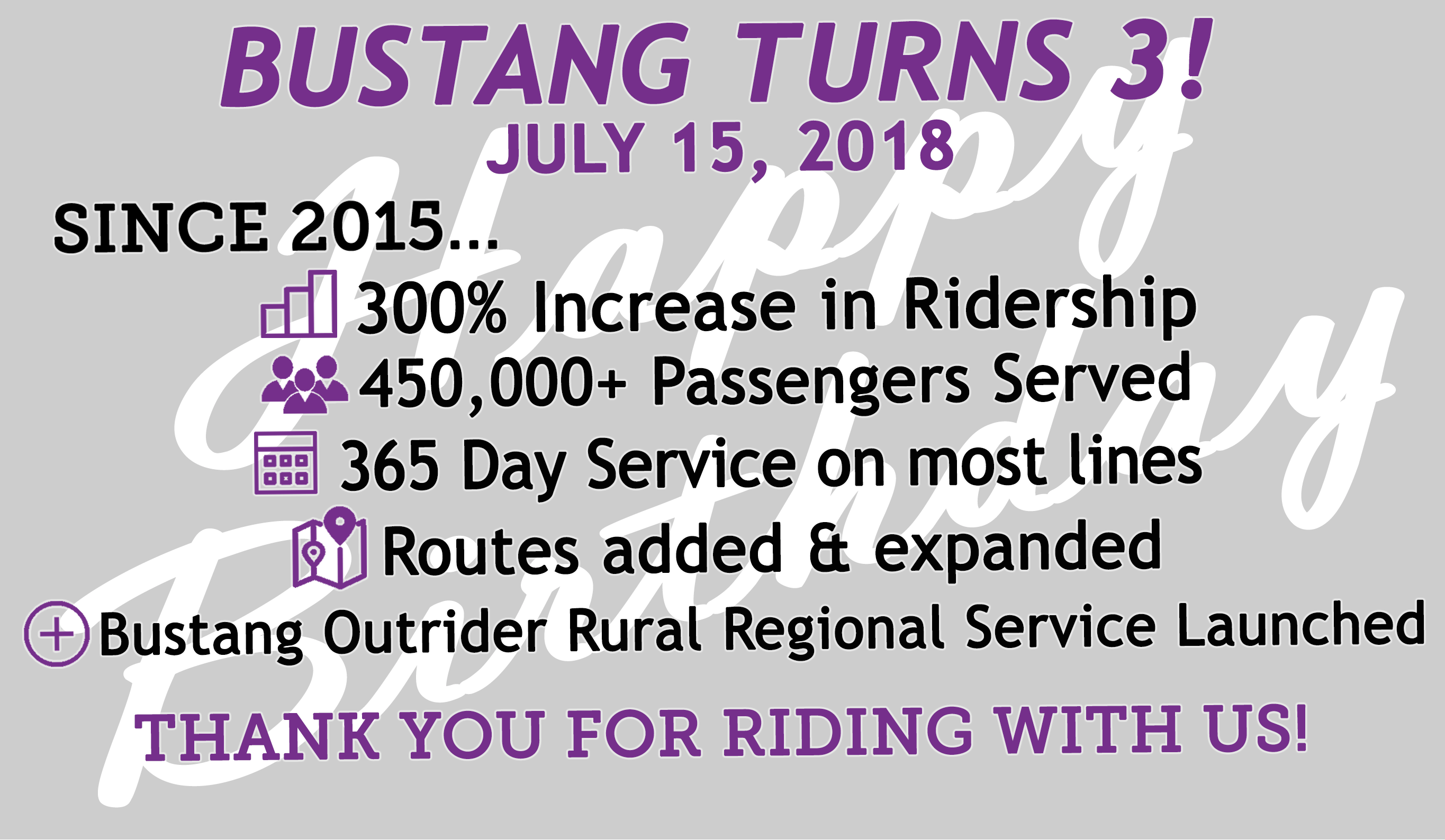 Bustang Exceeds Ridership, Revenue Projections as it Hits 3-Year Anniversary