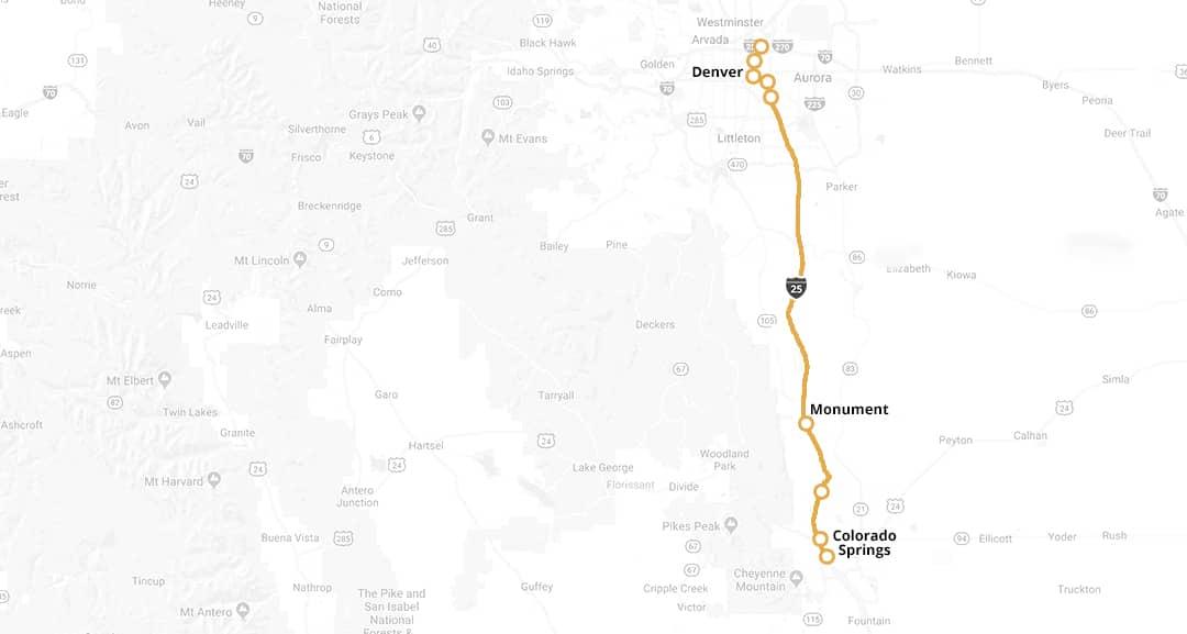 Bustang Routes Denver Bus Colorado Springs Bus Routes Bustang