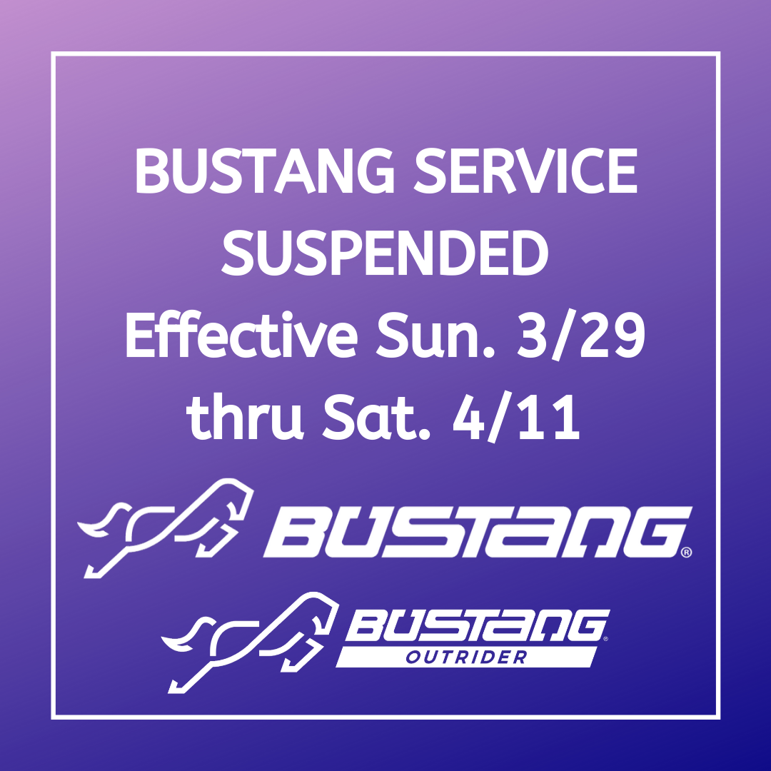 CDOT Suspends Bustang and Outrider Service
